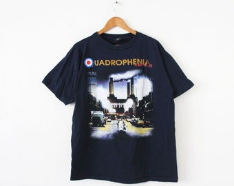 XLARGE Vintage 1996 QUADROPHENIA A Way of Life The Who Tour Navy Blue Graphic T-Shirt
