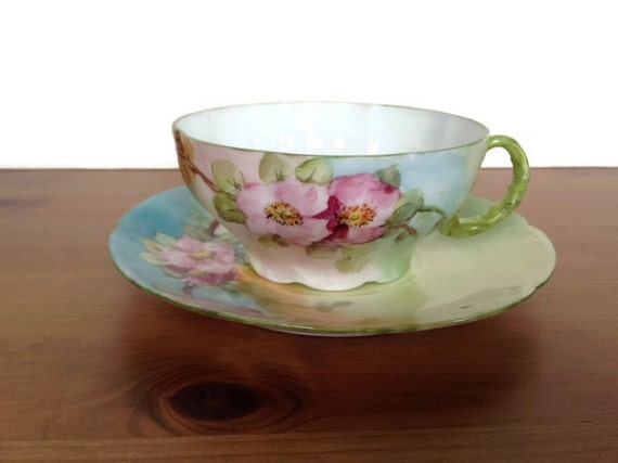 Vintage Bavarian tea cup and plate Rosenthal and Company gifts for mom