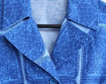Vintage Marimekko Cotton Fabric Blazer