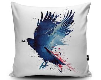 Game of Thrones Cushion, Inspired By, Crow Cushion, Bird Cushion Bird Pillow, Raven, 18x18 inch / 24x24inch Faux Suede Cushion