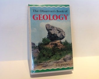 The Observer's Book of Geology. Number 10. Geology Book. Science Books. Educational Books.