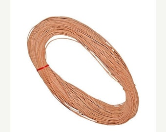 On Sale NOW 25%OFF One Meter (40 inches) 4mm Genuine Greek Leather Cord Natural