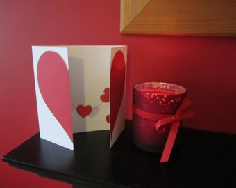 I love you - String of hearts greetings card