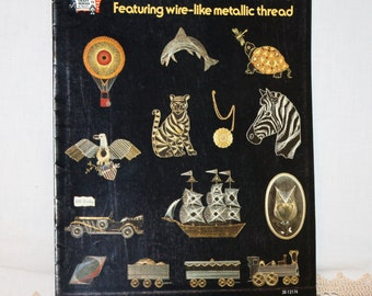 1975 Creative String Art pattern book with 11 projects and instructions, Hazel Pearson Handicrafts