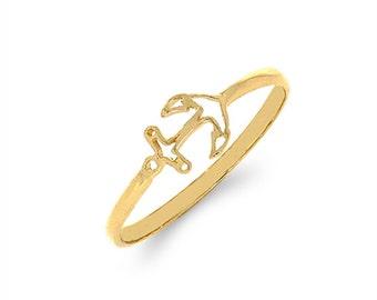 14k solid gold anchor ring. nautical ring, sealife ring, dainty ring, trendy ring