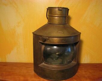 Vintage Brass Port Ship's Oil Lamp