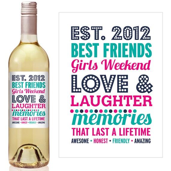 best friends wine label birthday wine label personalized wine