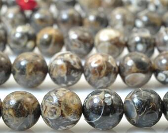 47 pcs of Retro screw stone smooth round beads in 8mm (04543#)