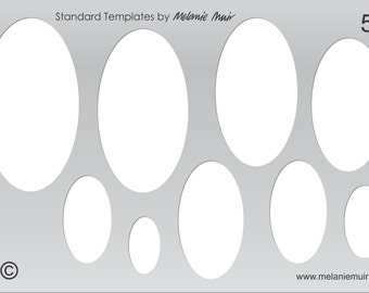 Psd template 2 inch circles works with avery 22807 22817 new no 55 clear acrylic templatestencil for polymermetal clayjewellerycrafting pronofoot35fo Images