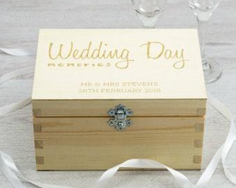 Wedding Keepsake Box - Wedding Day Memories - Personalised Keepsake Box - Memory Box - Wooden Keepsake Box - Wedding Gifts - LC062