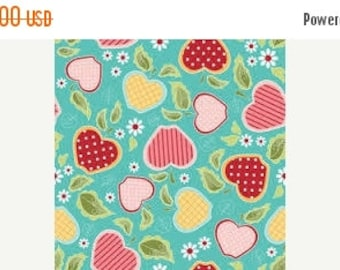 Extra 20% OFF 1/2 yard Apple of My Eye by the Quilted Fish for Riley Blake blue apple