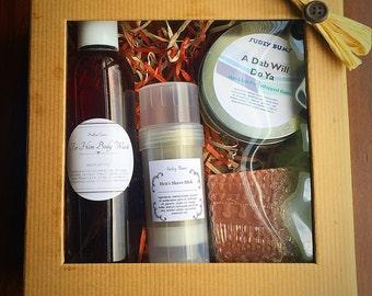 Men's gift set, Men's gift, Men's soap set, Men's bath and body set, vegan men's gift,