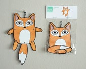 Jointed Paper doll // Fox
