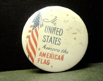 Final Clearance -Political or American Flag Button/Pin