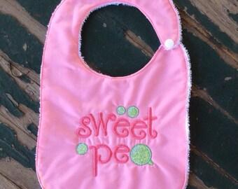 Baby's Handmade Bib - Sweet Pea