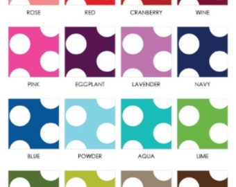 Polka dot fitted crib sheet
