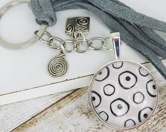 Bag pendant • circles • keychain