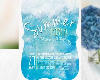 Summer Swim Party Event Poster/Invitation (Digital Design)