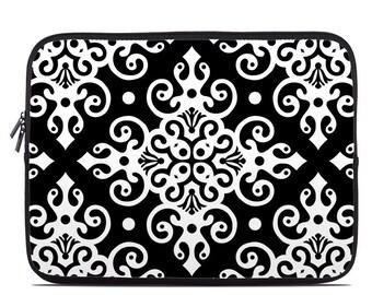 Laptop Sleeve Bag Case - Noir by Debra Valencia - Neoprene Padded - Fits MacBooks + More
