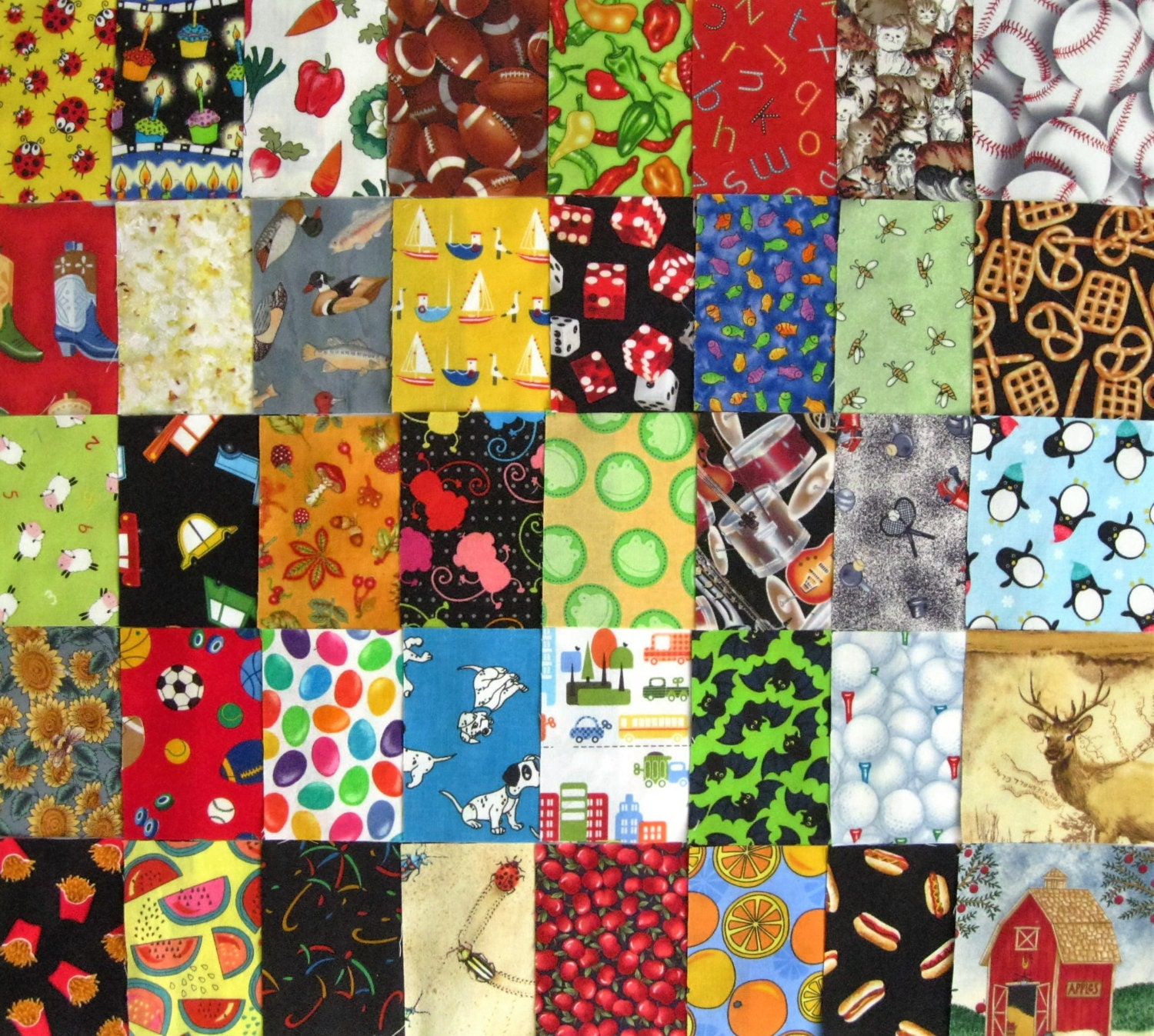 40 i spy boys childrens novelty all diff 4 fabric quilt for Childrens quilt fabric