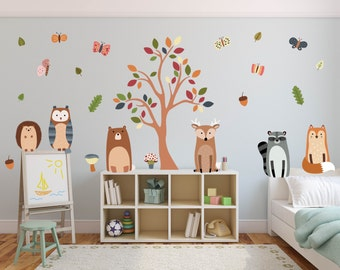 Woodland Nursery Wall Decals, Nursery Wall Decals, Animal Wall Decals, Woodland Nursery Wall Art, Woodland