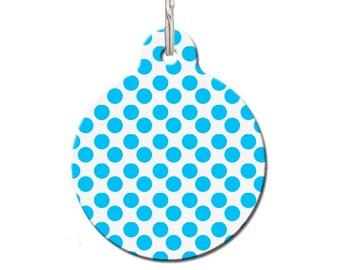 Blue Spots Pet ID Tag   FREE Personalization