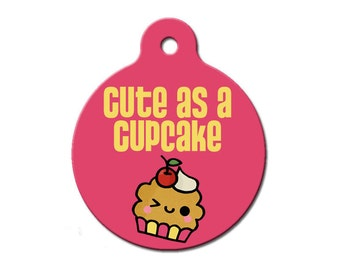Cute As A Cupcake Pink Pet ID Tag