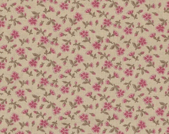 Moda Quilt Fabric - French General - Rouenneries Deux - Floral Chardon - Oyster - 13606-13  By The Yard