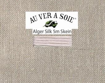 Kreinik - Au Ver A Soie - Soie d'Alger - Color 3321T - Silver Purple Very Light  - 5.5 Yards - By the Skein