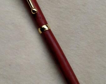 Twist-style ball-point wooden pen