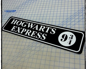 Hogwarts Express 9 3/4 Aluminum Sign