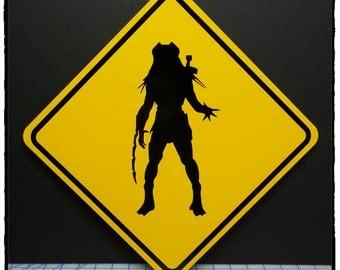 Predator Yellow Aluminum Sign