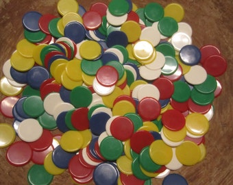 Poker Chip Game Piece Lot Vintage - 210