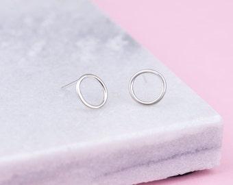 lucia - sterling silver hoop stud earrings