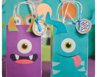 Little Monsters; Little Monsters Party; Monster Birthday Party; Little Monsters Birthday Party; Little Monsters Gift Bag Shipped to you!