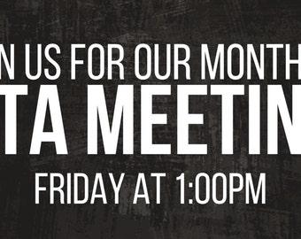 Black PTA Meeting Banner