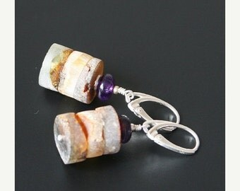 ON SALE 20% OFF Amber and amethyst