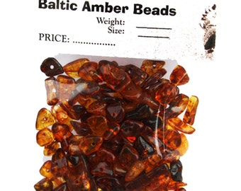 Mixed Polished Baltic Amber Beads with holes. (3mm-8mm) Approx. 100 amber beads in each 10 grams.