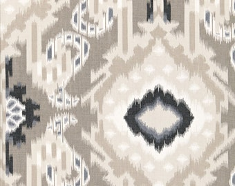 Kiribati Ikat Print in Linen-listing is for one pillow