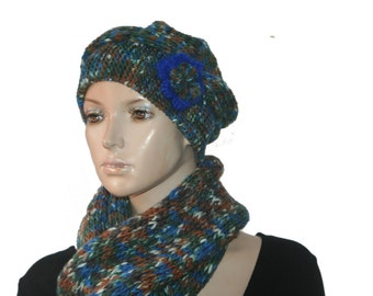 Hand Knits Scarf Hat Set, Slouchy hat, Winter Accessories, Womens Accessories, Accesories,Hand Knits