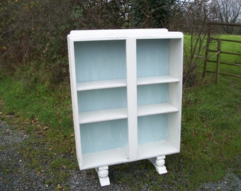 Vintage Painted Shabby Chic Retro Bookcase Shelves. Adjustable. Farrow and Ball