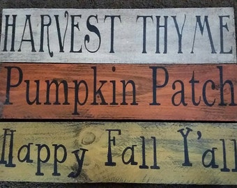 Primitive Fall Signs