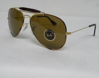 New Vintage B&L Ray Ban Outdoorsman Tortuga Gold Tortoise B-15 58mm L1705 Sunglasses USA