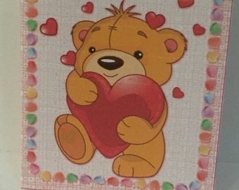 More Love Bear Valenties Cards (Your choice of cards, Your choice of inserts and envelope