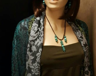 AMPLIFIER - Necklace & Earring Set - By Carbon Arc Adornments - UPC  700153945295