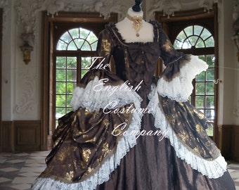 LAST ONE... XXLARGE  Marie Antoinette dress.Colonial Georgian 18th century  Fully boned for authentic bust lift.No corset required