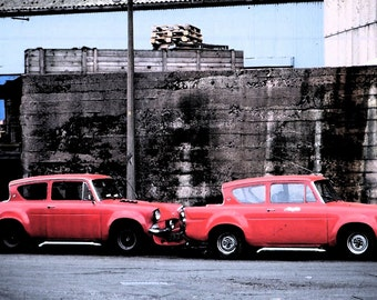 RED FORD ANGLIAS - Red Cars - Instant Digital Download - 1970s Cars -  Elizabetha Fox