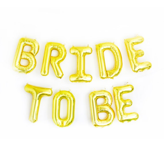 BRIDE TO BE Letter Balloons Bridal Shower Decor By StudioPep