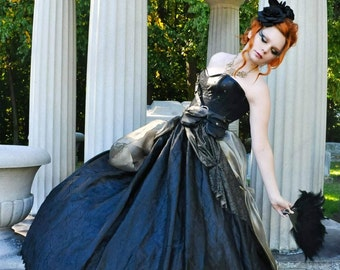 Steampunk gothic princess skirt