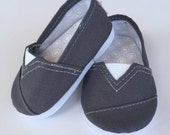 MADDIES - Toms Style Shoes for 18 inch dolls - Medium Grey